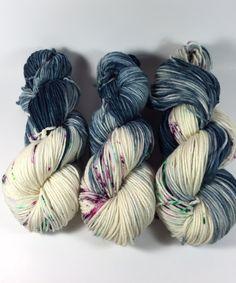 Merino Superwash Worsted Hand Dyed Yarn Swing by HauteKnitYarn
