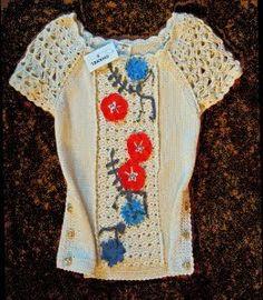 Square With Flair: Bastille Day from Chanel Crochet Trim, Irish Crochet, Hand Crochet, Knit Crochet, Crochet Jacket, Crochet Cardigan, Crochet Poppy, Crochet Summer Tops, Odd Molly