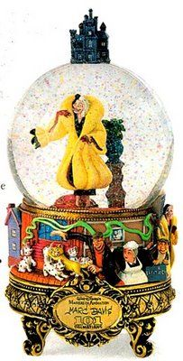 101 Dalmations Masters of Animation Snowglobe