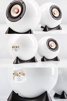 Ball Speakers Augarten are the result of the elaborate design by mo° sound and the craftsmanship of the Viennese porcelain manufacture Augarten. Dj Sound, Kugel, Tech Gadgets, Dog Bowls, Speakers, Audio, Kitchen Appliances, Interiors, Design