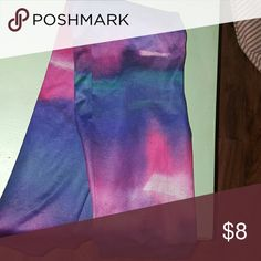 Ombre Leggings These blue and pink ombre leggings have a satin feel and would be great for exercise. Other