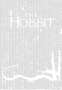 The entire text of The Hobbit as a poster. The site has several great works, beautifully presented !