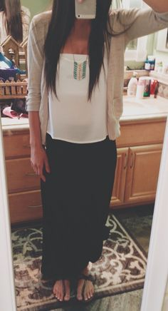 maxi skirt summer outfits - Google Search