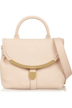 See by Chloé Lizzie textured-leather shoulder bag | NET-A-PORTER