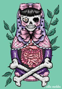 ☆ Zombie Russian Doll :: Artist Ella Mobbs ☆