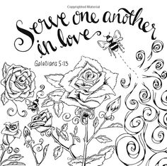Scripture Garden Coloring Book Christian Coloring for all Ages. Pray ...