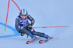 Italy's Manuela Moelgg competes during the FIS Alpine World Cup Women Giant Slalom on December 10, 2016 in Sestriere, Italian Alps.  / AFP / GIUSEPPE CACACE