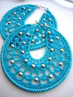 Tina's handicraft : how to make crocheted earrings