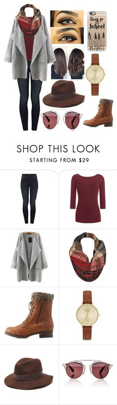 Untitled #40 by katherinedelaney on Polyvore featuring Mother, Charlotte Russe, Skagen, Gottex, Casetify, Black Rivet and Christian Dior