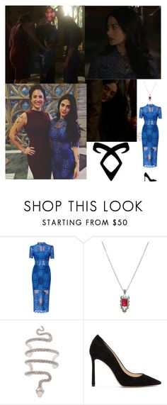 """""""Outfit #711/Season 2 Episode 8"""" by nmr135 ❤ liked on Polyvore featuring Alexis, Jimmy Choo, Rune NYC, shadowhunters, isabellelightwood, aleclightwood, rune and nmr"""