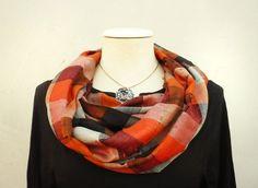 lnfinity loop scarf  Viscose circle  accessoriesPlaid