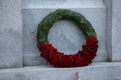 Beautiful wreath placed at the Victoria Cenotaph by the Duke and Duchess