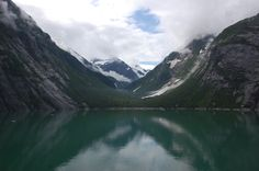 The distinctive bowl shape of a glacial valley, Tracy Arm Fjord Alaska