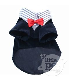 LittlePetPlanet.com - 2 in 1 Corduroy Pet Dog Suit with Stripe Shirt