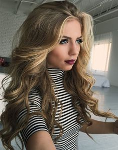 Long Thick Ombre Hairstyle Ideas 2018 for Girls