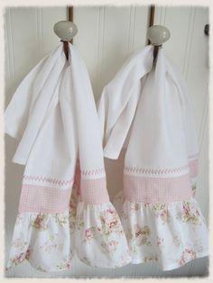 Shabby Ruffled Kitchen Towels