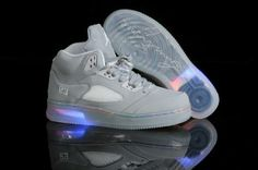 Air Jordan Retro 5+AF1 lighting Men's shoes Grey
