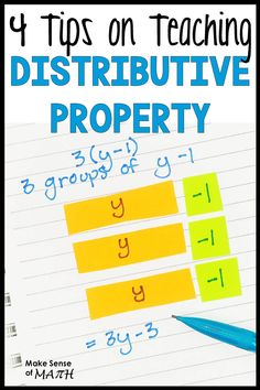 Check out how to teach the distributive property so your middle school math students never Algebra Activities, Math Resources, Math Games, Math Math, Math Fractions, Multiplication, Math Teacher, Math Classroom, Teaching Math