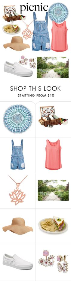 """""""Garden Picnic"""" by peridot11871 ❤ liked on Polyvore featuring Boohoo, prAna, Old Navy, Vans and Betsey Johnson"""