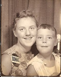 +~ Vintage Photo Booth Picture ~+  Big and Little Sis