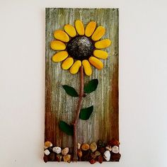 Pebble fine art driftwood art pebble collage wall decor pebble think about designed to buy – Pebble art driftwood fine art pebble collage wall decoration pebble bouquets made to purchase – Artofit Stone Crafts, Rock Crafts, Arts And Crafts, Wall Collage Decor, Wall Decor, Wall Christmas Tree, Rock Flowers, Pallet Art, Small Pallet