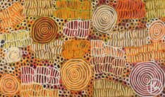"""Awelye & Bush Melon"" by Betty Mbitjana 150cm x 89cm $2,750  http://www.aboriginalartstore.com.au/artists/betty-mbitjana/awelye-bush-melon-48/"