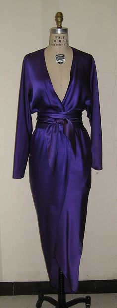 Dress Halston (American, Des Moines, Iowa 1932–1990 San Francisco, California) Date: 1978 Culture: American Medium: silk