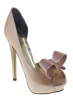 Champagne Bow Johnathan Kayne Prom | Pageant Shoes. Love this for interview with a fashion forward dress. Please have toned, tan bare legs or toerless panty hose. No toes out with pantyhose please.