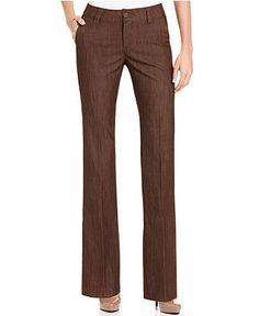Lee Platinum Monaco Straight-Leg Trouser Jeans, Java Rinse Wash - Pants & Capris - Women - Macy's