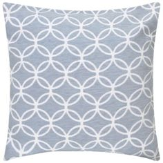 KLiving Lisbon Geometric Cushion Cover Blue 43x43cm(Pack of 2)