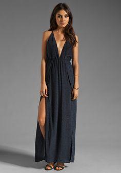 For love and lemons camillia maxi dress black