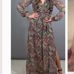 Gorgeous maxi dress Brand new by Savannah Rose light sheer and amazing Dresses Maxi