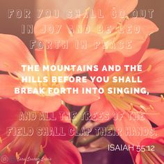 MOPS 2015 A Fierce Flourishing theme verse. Isaiah 55:12