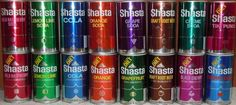 Shasta Cola ... A dime a can, and they came in every flavor you can imagine!  (my fav was cream soda)