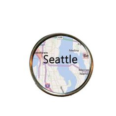Seattle snap leather bracelet noosa ginger snaps Seattle map charm Seattle map necklace Seattle map jewelry snap jewelry by TheSnapExchange on Etsy