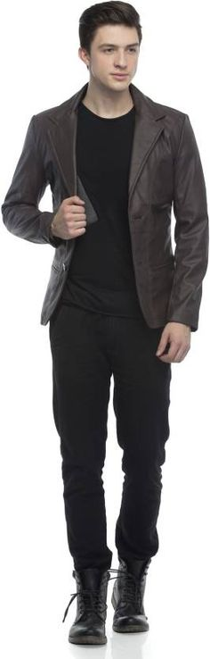 Emblazon Collection Solid Single Breasted Casual Men's Blazer #casual #leather