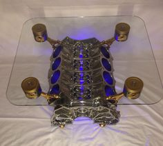 Super Chrome Engine Block Coffee Table V8 V10 V12