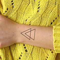 Double Triangle Temporary tattoo Set of 2 by TTTattoodotcom