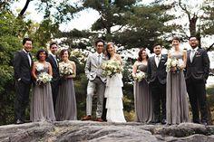 30 Ideas Wedding Party Pink And Grey Bridesmaid Dresses Grey Bridesmaids, Grey Bridesmaid Dresses, Wedding Dresses, Grey Dresses, New York Wedding, Dream Wedding, Trendy Wedding, Fall Wedding, Groomsmen Colours