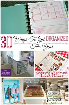 30 Ways To Get Organized This Year