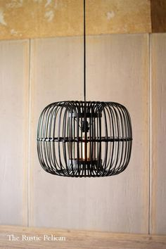 Kalalou Round Black Bamboo Pendant Lamp is available at American Country Home Store. Farmhouse Pendant Lighting, Farmhouse Light Fixtures, Farmhouse Chandelier, Rustic Lighting, Modern Chandelier, Modern Lighting, Lighting Ideas, Industrial Lighting, Rustic Industrial