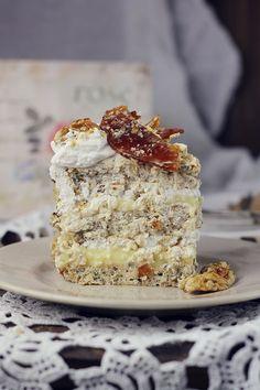 Tort egiptean, cu nuca si krantz | Pasiune pentru bucatarie ~~ Egyptian cake with walnuts and Krantz ~~ Recipe in Romanian!