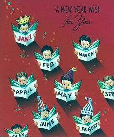 A New Year wish for you! #vintage #New_Years #cards
