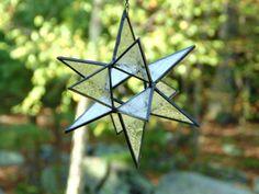 Moravian star stained glass suncatcher #holiday #star #etsygift #suncatcher by DesignsStainedGlass