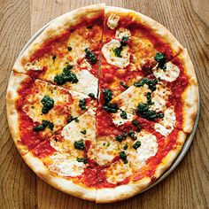 Time: 2 3/4 hours. The extended mixing time for the dough develops the gluten in the flour and produces a pizza crust with a nice...