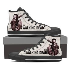 The Walking Dead Men's High Top Canvas Black Shoes