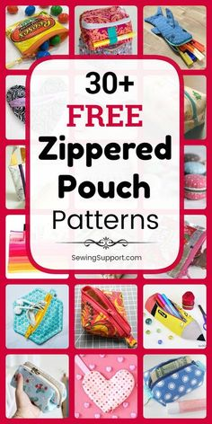 30 Free Zipper Pouch patterns, tutorials, and diy sewing projects. Sew cute zipper coin purses, small boxy styles, and more. Coin Purse Pattern, Bag Pattern Free, Pouch Pattern, Bag Patterns To Sew, Sewing Patterns Free, Free Sewing, Pattern Sewing, Diy Sewing Projects, Sewing Projects For Beginners