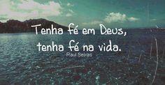 fé em Deus e na Vida