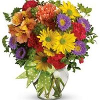 Colored flowers mix , Daisy spray chrysanthemums, asters, carnations, alstroemeria, bupleurum , http://www.filipinasgifts.com/flower-arrangements/colored-flowers-mix.html