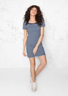 & Other Stories image 2 of Marine Organic Cotton Dress in Blue